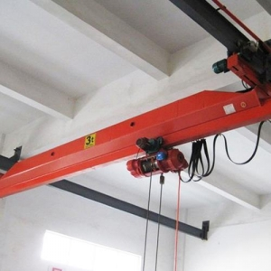 China Single Girder Overhead Crane with Electric Wire Rope Hoist on sale