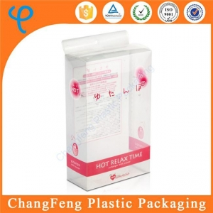 China Cheap Cosmetic Electric Powder Puff PVC Plastic Custom Packing Box with Hanger on sale