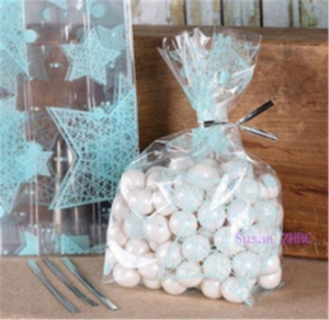 China Clear Candy Sweet Biscuit Cellophane Bags Popcorn Bags on sale