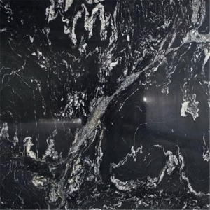 China China Nero Fantasy Leathered Black Marble Texture Granite Slab on sale