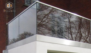 China Outdoor Balcony U Channel Glass Railing, Aluminum U Based Channel Balustrade for Stair on sale
