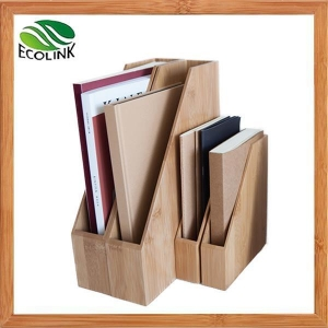 China Bamboo Wood Desktop File Magazine Folder Organizer Rack on sale