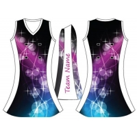 China Sublimation Transfer Women Netball Dresses 100% Polyester Netball Uniform on sale