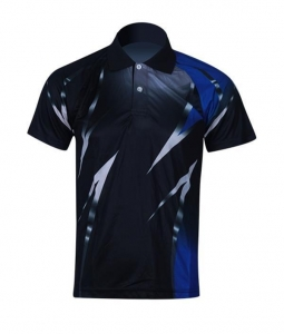 China Custom Golf Polo Shirt for Men 100% Polyester Sublimated Logo on sale