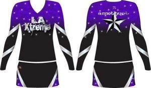 China OEM Custom Sublimation Cheerleading Uniforms Cheer Top Dress on sale