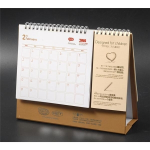 China Spiral Binding Desktop Calendar Planner With A Small Agenda Notepad on sale