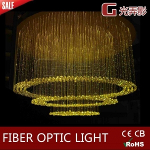 China 45W LED Commercial Color Changing Crystal Fiber Optic Chandelier Lightings on sale