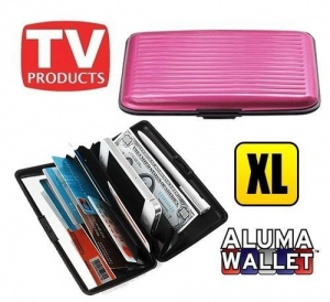 China As Seen On TV RFID Security Large Aluminum Wallet/Long Credit Card&Cash Holder on sale