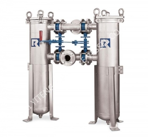 China High Efficient Energy Saving Double Bag /bag Filter Housing for Sale on sale