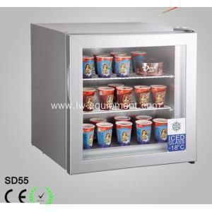 China Vertical Glass Door Display Freezer with Solar Power on sale