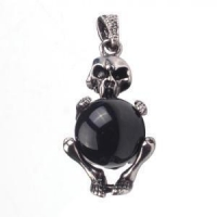 China Antique Skull Onyx Jewelery Accessories Pendant Necklace on sale