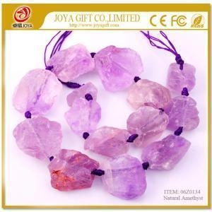 China Natural Raw Rough Amethyst Jewelry Crystal Gemstone Beads on sale