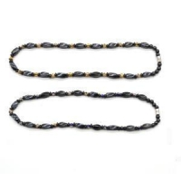 China Magnetic Jewelry Hematite Twist Beads Necklace with Cloisonne Beads and Magnetic Twist Beads on sale