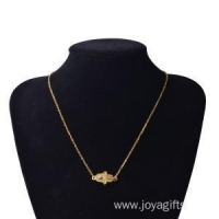 China Gold Hand of Fatima Alloy Pendant Necklace on sale