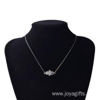 China Charms Silver Hand of Fatima Alloy Necklace on sale