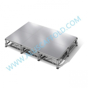 China Aluminum Portable Mobile Plywood Platform Wedding Stage on sale