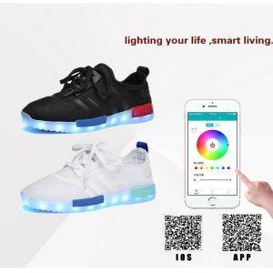 China 2016 Boys& Girls Wholesale APP Control Smart LED Shoes Music Adjusting Flashing Shoes on sale