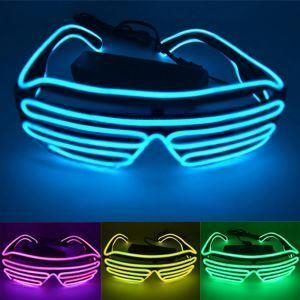 China New Arrival LED Light Up Shutter Glasses Luminescent Glasses EL Wire Glasses For Parties on sale