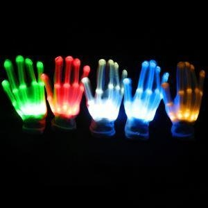 China Factory Directly Deal LED Gloves Wholesale Light Up Gloves Luminous Party Gloves 7 Color Light Show on sale
