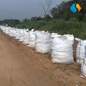 China Geotextile Sand Containers / Bags Designed For Coastal, River and Slope Protection on sale