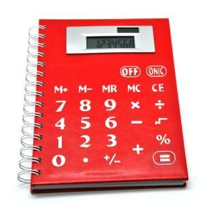 China Multi function Solar Power Coil Notebook Calculator on sale