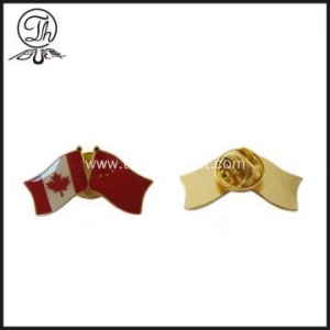 China Canadian Flag custom metal emblems pins on sale