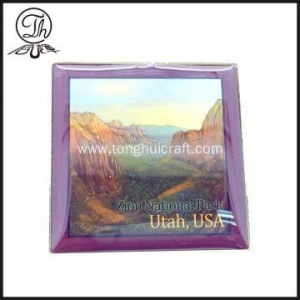 China Zion National Park Square printed badge pin on sale