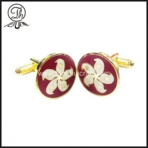 China Personalised Hongkong Bauhinia flower cufflinks for men on sale