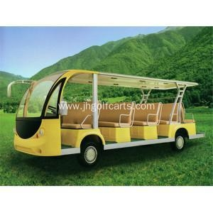 China 14 seats electric or gasoline classical sightseeing car on sale