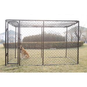 China Cheap outdoor Chain link black Dog run kennel Customized on sale