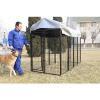 China Black Welded Outdoor Rustproof Large Dog Kennel for sale