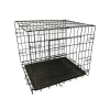 China Black Folding Durable Pet Dog Cage for sale