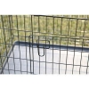China Two Door Black Folding Portable Large Dog Crate for sale