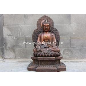 China Large Brass Chinese Sitting Buddha Statue on sale