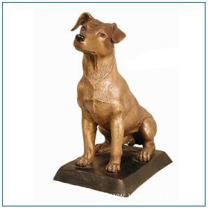 China Life Size Bronze Dog Statue for Sale on sale