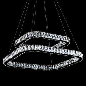 China rectangular contemporary crystal ceiling chandelier on sale