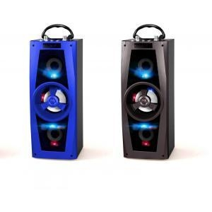 China 1200mAh Wooden Case Audio Wooden Stereo Speaker on sale