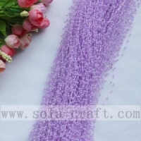 China 3MM Light Purple Imitation Pearl Beaded Chains Trimming For Party Supplies on sale