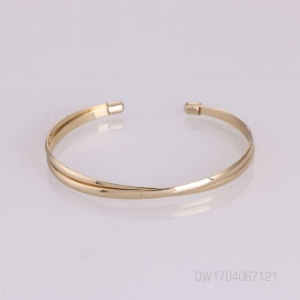 China Chic Double Wide Metal Strips Bars Punk Cuff Gold Tone Elegant Bangle For Ladies on sale