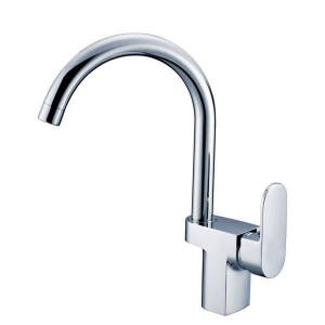 China SL-103701 Free Contemporary Single Handle Solid Brass Kitchen Faucet Chrome Finish on sale