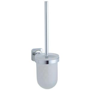 China SL-12904500 frosted glass toilet brush and holder on sale
