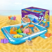 Motion sand motion sand kinetic sand box with beach molds