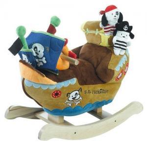 China RH-1005 plush pirate ship baby rocking animal on sale