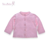 China Baby Girl Pink Long Sleeve Baby Girl Clothes Sweater Design on sale