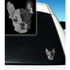 China Dogs French Bull Dog Rhinestone Car Decal: Wholesale Products for sale