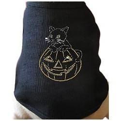 China Dogs Cat Pumpkin Jack O Lantern Halloween Dog Tank Top: Wholesale Products on sale