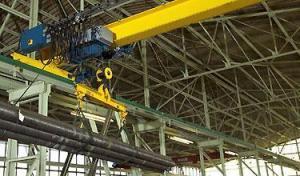 China Demag ELKE type steel single girder bridge crane on sale