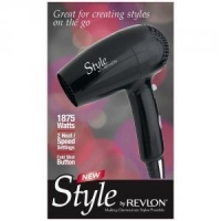 Revlon Dual Voltage 1875 Watt Foldable Travel Hair Dryer - RVDR5033