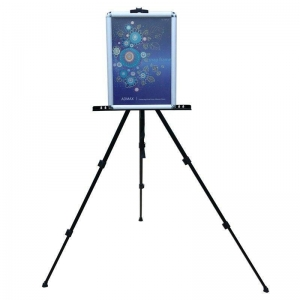 China Light Weight Tripod Graphic Banner Stand Aluminum Poster Easel Art Easel on sale