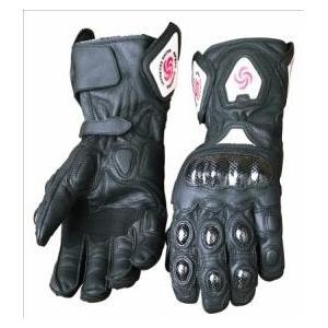 China motorcycle/dirt bike full finger leather gloves on sale